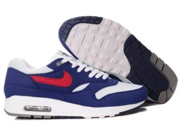 Nike Air Max 87 бело-синие с красным (40-45)