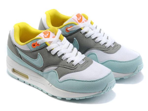 Nike Air Max 87 серо-бирюзовые (35-40)