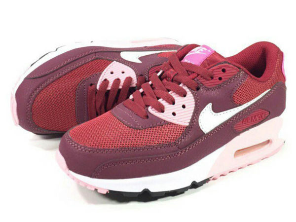 Nike Air Max 90 красные с бордовым (35-40)