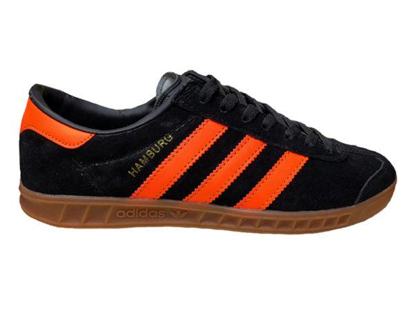 Adidas Hamburg черные с оранжевым (40-45)