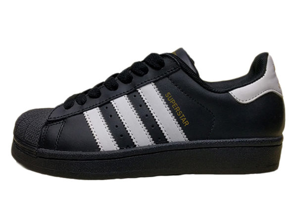 Adidas Superstar черные с белым (35-45)