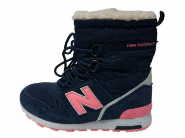 New Balance 574 High на меху темно-синие с розовым (35-41)