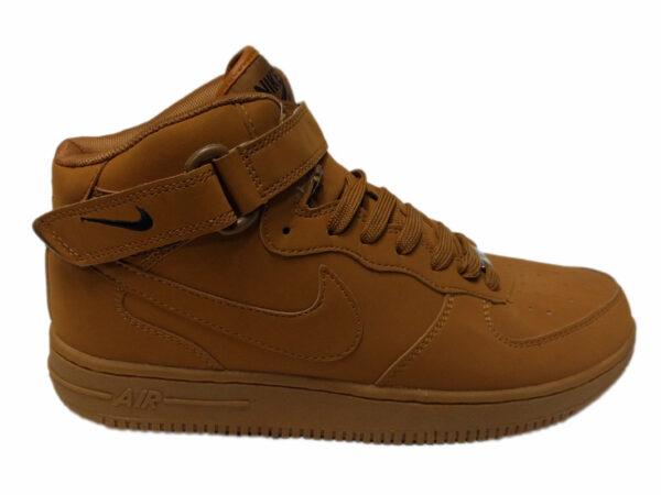 Nike Air Force 1 Mid на меху песочные (35-45)