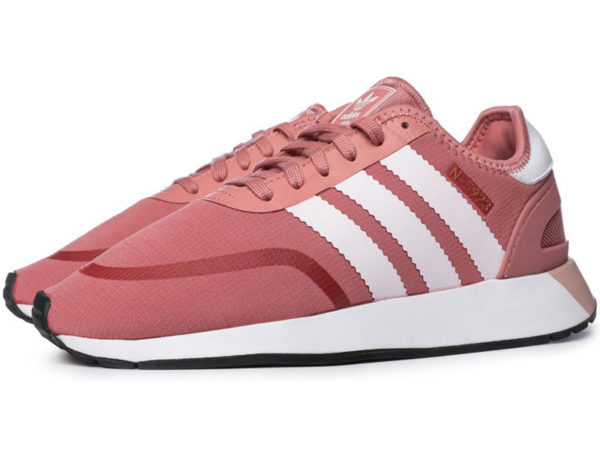 Adidas N-5923 Iniki Runner розовые с белым (35-40)