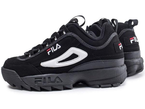 Fila Disruptor 2 черные с белым (35-45)