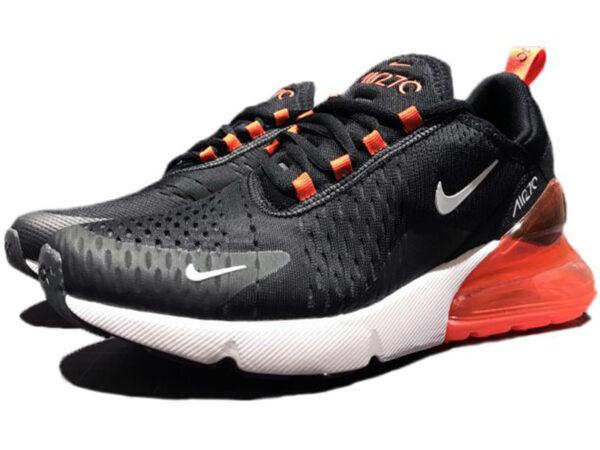 Nike Air Max 270 черно-белые с оранжевым (35-45)