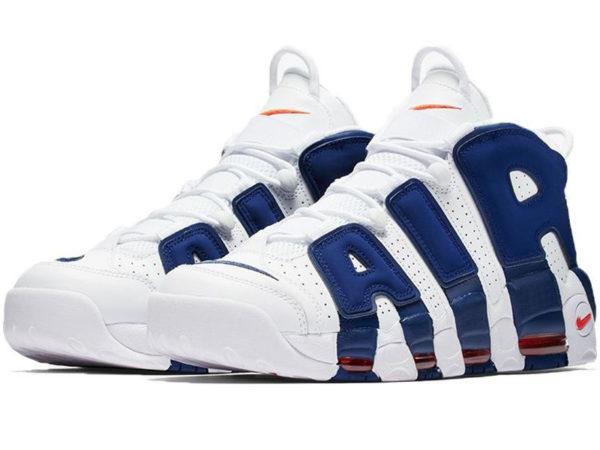 Nike Air More Uptempo белые с синим (40-46)