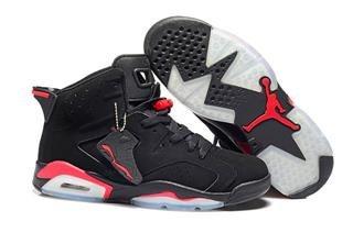 Nike Air Jordan 6 черные с красным (40-44)