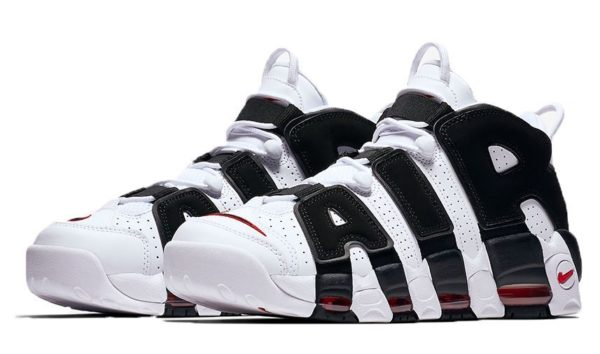 Nike Air More Uptempo белые с черным (35-39)