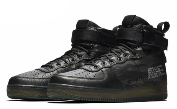 Кроссовки Nike Air Force 1 SF Camo Black черные (40-45)