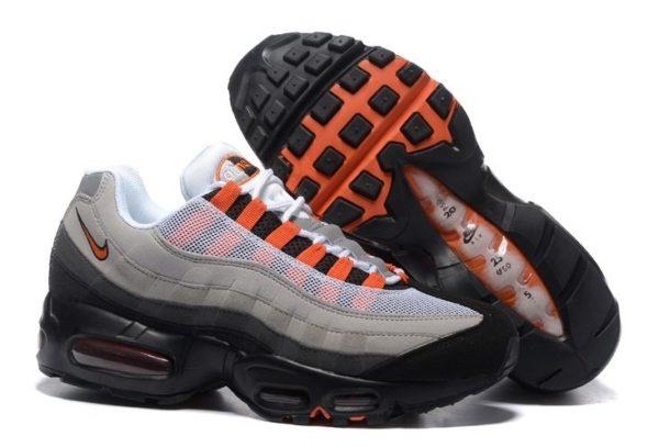 Nike Air Max 95 серые с черным и оранжевым (41-45)