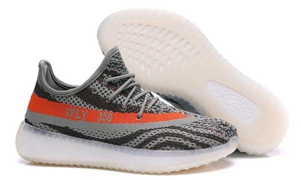 Adidas Yeezy Boost 350 V2 серо-оранжевые (35-44)