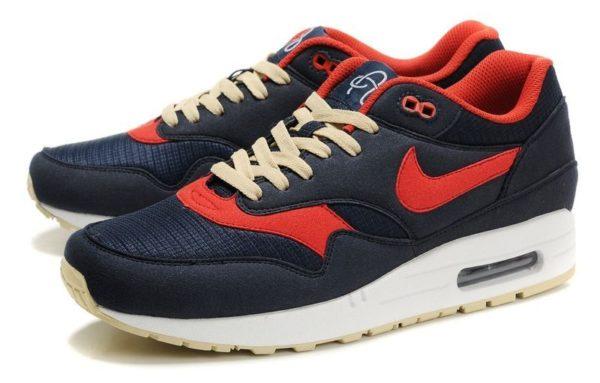Nike Air Max 87 синие с красным 35-40