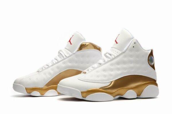 Nike Air Jordan 13 Retro белые с золотым (40-45)