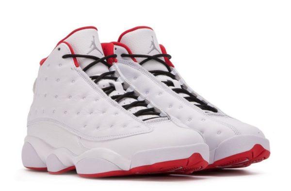 Nike Air Jordan 13 Retro белые с красным (40-45)