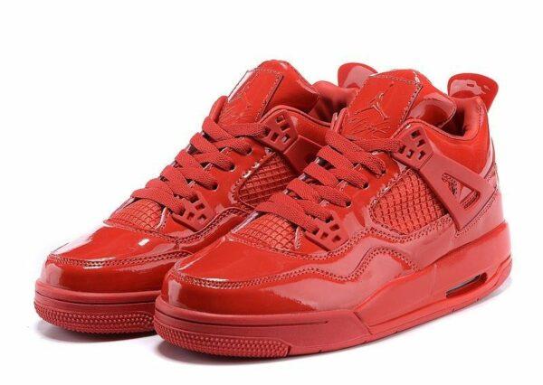 Nike Air Jordan 4 Retro глянец красные (40-45)