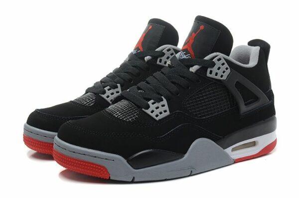 Nike Air Jordan 4 Retro черные с красным (35-45)