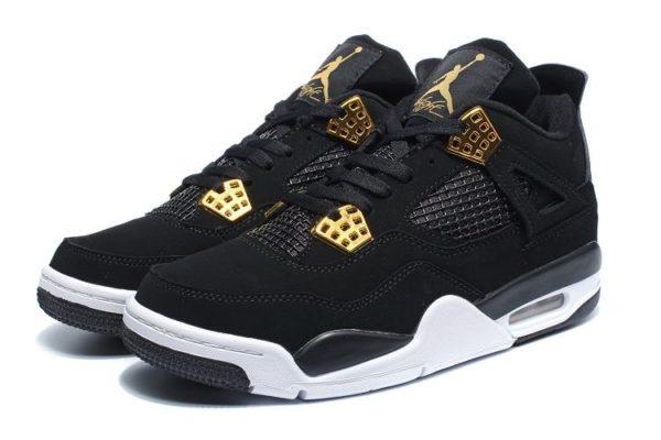Nike Air Jordan 4 Retro черные с белым (40-45)