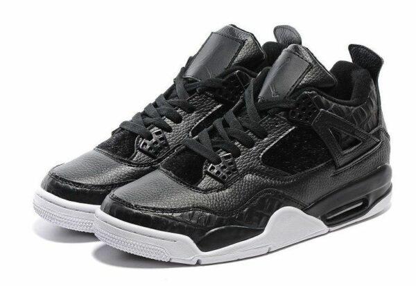 Nike Air Jordan 4 Retro черные кожа (40-45)