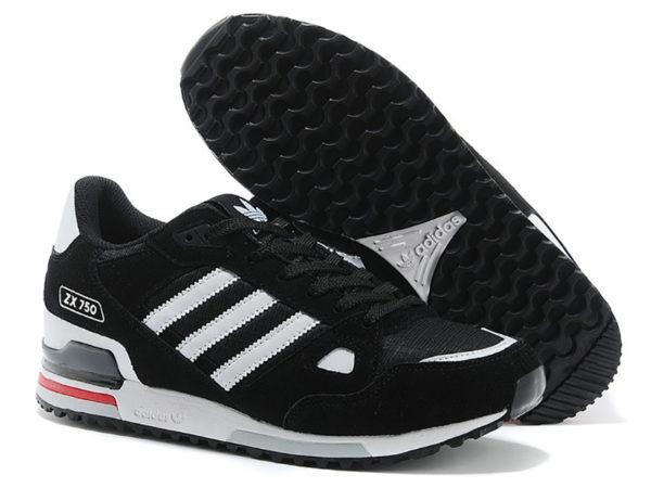 Adidas ZX 750 черные с белым (40-46)