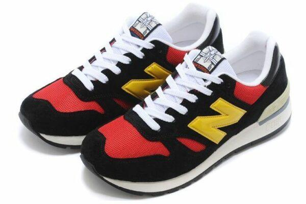 New Balance 670 черные с красным и желтым (35-44)