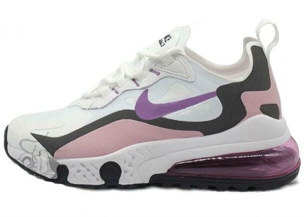 Nike Air Max 270 белые с розовым (35-39)