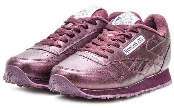 Reebok Classic Leather фиолетовые (35-39)