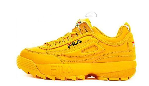 Желтые кроссовки Fila