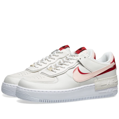 Nike Air Force 1 Shadow бело-розовые кожаные женские (35-39)