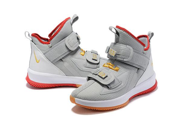 Nike Lebron Soldier 13 серые с белым мужские (40-45)