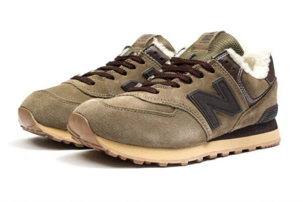 Коричневые замшевые кроссовки