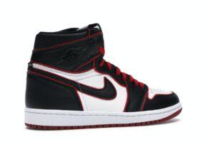 Nike Air Jordan 1 Bloodline черно-белые с красным (35-44)