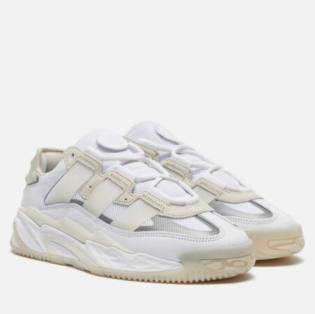 Adidas Niteball белые кожа-нубук мужские (40-44)
