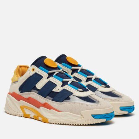 Adidas Niteball серые-синие кожа-нубук мужские-женские (35-44)