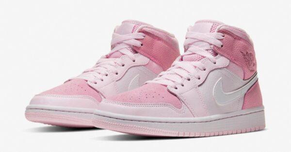 Nike Air Jordan 1 Retro розовые кожа-нубук женские (35-39)