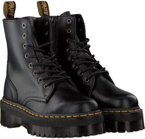 Зимние ботинки Dr. Martens Jadon с мехом черные кожаные женские (35-40)