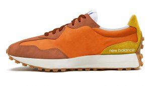 New Balance 327 оранжевые замшевые мужские-женские (35-44)